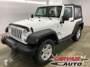 2017 Jeep Wrangler Sport A/C 4x4 MAGS *Comme Neuf*