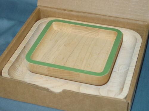 J.K. Adams For The Uncommon Goods Pistachio Pedestal Wood Serving Tray Bowl Set