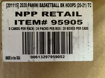 2020 Panini Hoops Basketball Factory Sealed Retail 20 Box Case