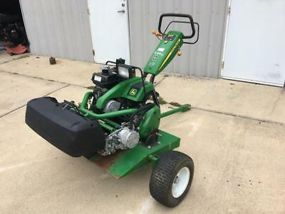 2015 John Deere 220 E-Cut Hybrid Groomer Greens Reel Mower Trailer Caddy