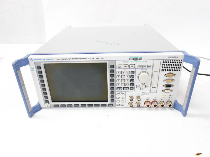 R&S CMU200 UNIVERSAL RADIO TESTER 1100.0008.02 CMU 200 ROHDE & SCHWARZ OPTIONS