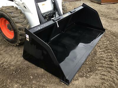 New Tomahawk 84 Snowlitter Bucket For Skid Steer Loaders Ssl Quick Attach