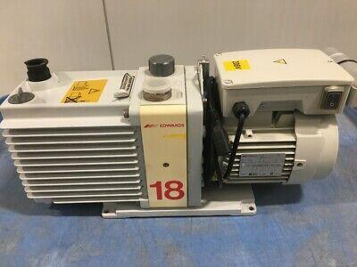 Used Good Condition Edwards E2m18 Rotary Vane Vacuum Pump.