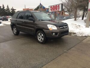 2009 Kia Sportage AWD,LEATHER,ROOF,MAGS,SAFETY+YEARS WARRANTY IN