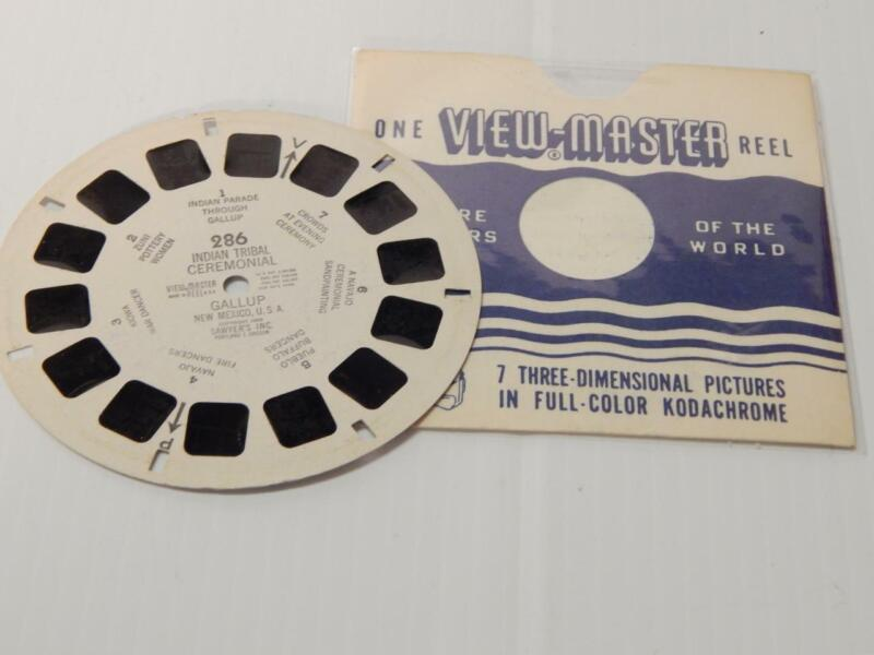 VINTAGE GALLUP TRIBAL CEREMONIAL VIEW MASTER PHOTO DISC - SAWYER 1948  RARE2FIND