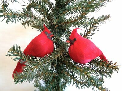 Cardinal Christmas Ornament (Fat Jack Red Cardinal 4.5 inch Christmas Ornament per THREE)