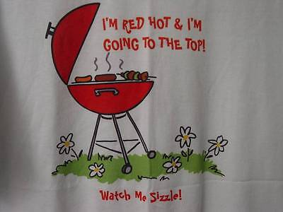 Chef T Shirt Barbecue Grill Burger White L I'm Red Hot I'm Going To Top Hot Dog