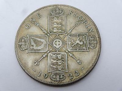 ***1922 .500 SILVER ONE FLORIN GEORGE V COIN (314)***