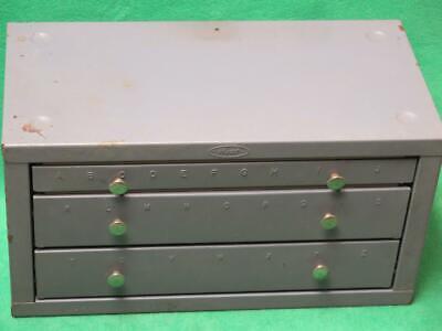 Vintage Huot Drill Bit Letter Index Dispenser 3 Drawer 28 Compartment Cabinet