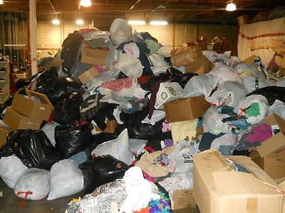 100pc Wholesale Mixed Lot of Men's Women's Kids Clothing for Resale