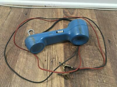 C62vtg Bell Systems Western Electric Linemans Blue Rotary Handset Phone Tester