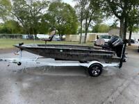 2019 Xpress HD16DBX H16DB 16 Ft. Aluminum 500 Miles Green Boat Mercury 4-stroke