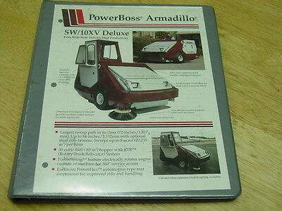 Powerboss Industrial Sweeperscubber Armadillo Model Sw10xv 1995 Parts Manual