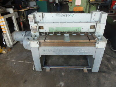14 Ga X 36 Niagara Model 23 Mechanical Shear 24 Robg Front Support Arm