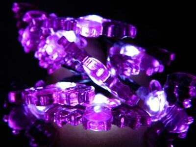 Battery Operated Halloween Decorations (Purple Halloween Bat Lights LED 10 Battery Operated Indoor Decorations Light)