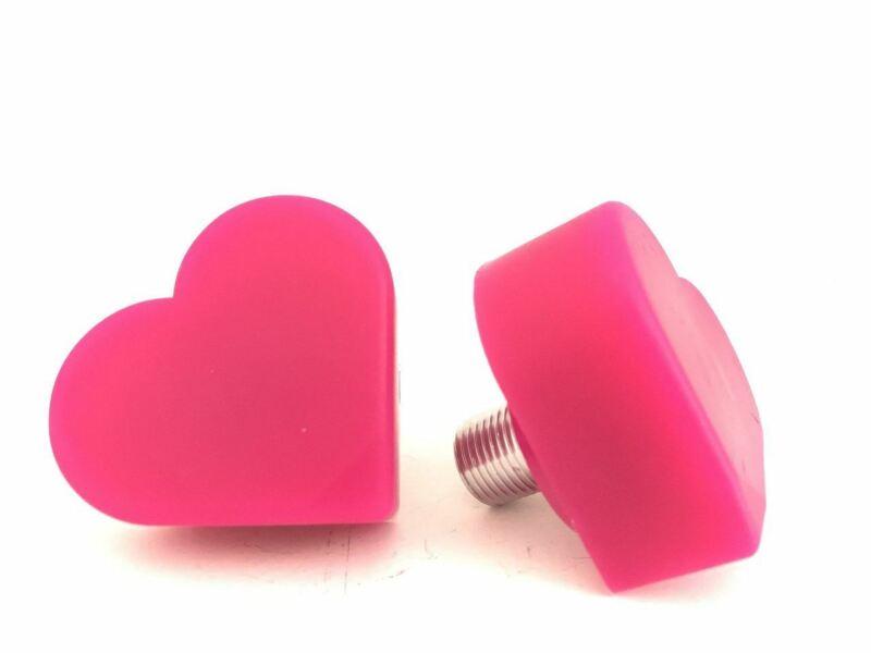 Grindstone - Heartstopper Toe Stops 5/8 stem ( sold in pairs ) - Magenta Mama