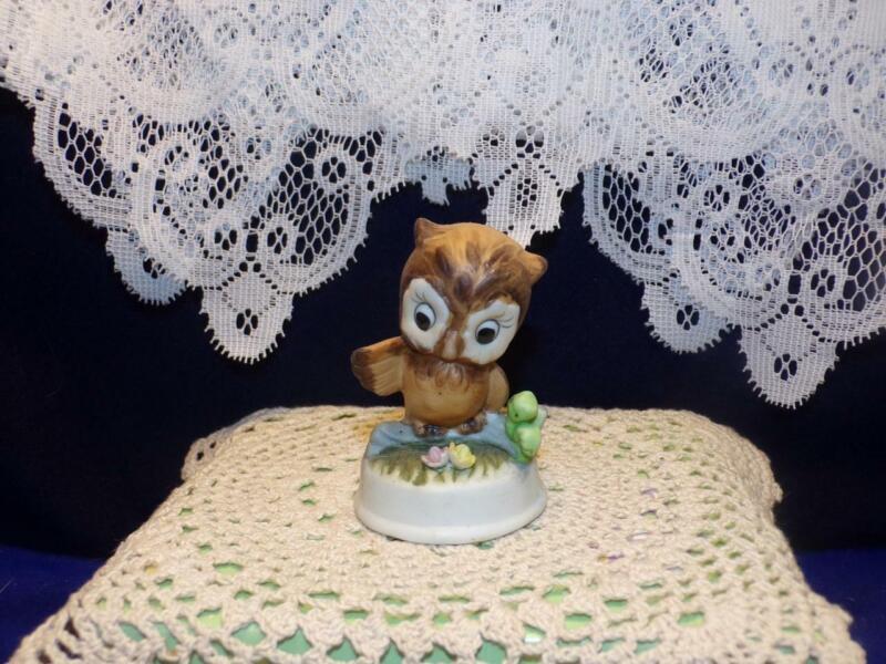 "Vintage OWL ON A BRANCH figurine  3"""