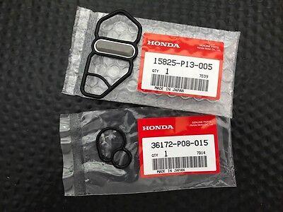 GENUINE HONDA VTEC SOLENOID GASKETS UPPER & LOWER 93-01 PRELUDE DOHC VTEC H22A  for sale  USA