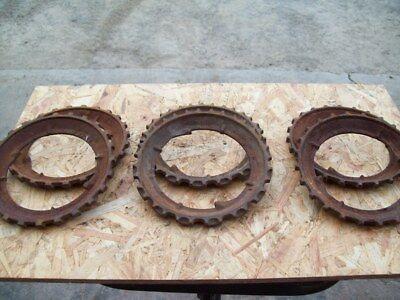 John Deere Used Cast Steel Corn Planter Plates Lot Of 6 Plates 3-pairs
