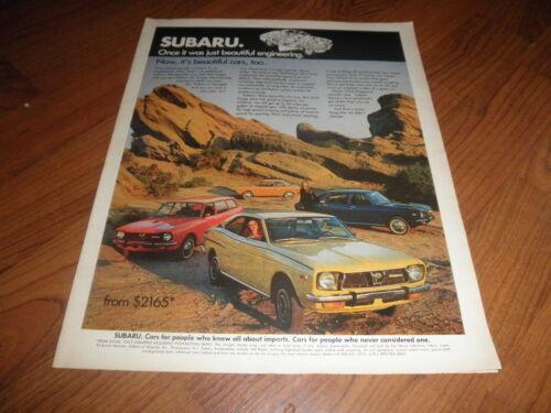 1980 Subaru Brat bw truck Classic Advertisement Ad P63