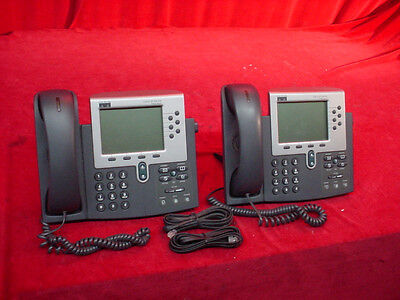 Cisco Systems 7960 Series Ip Phone Cisco Ip 7900 Series Desktop Phone Lot Of 2
