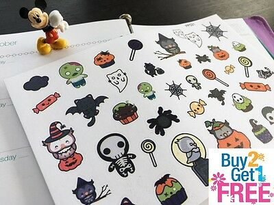 PP331 -- Kawaii Halloween Icons Planner Stickers for Erin Condren (39pcs) - Pp Halloween