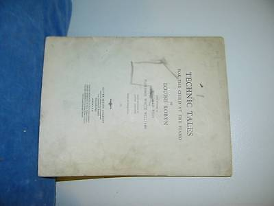 1936 TECHNIC TALES FOR THE CHILD AT THE PIANO ROBYN  ROSS WILLIAMS JOHNSON