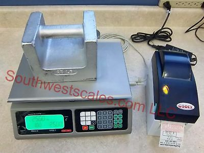 Torrey Lpc40 X .01lb Price Computing Scale Wgodex Dt2 Label Printer-shi Tor Rey