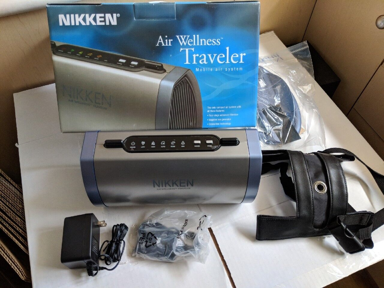 NIKKEN Air Wellness Traveler Mobile Air System // Never Used