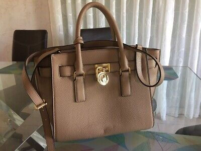 Sac à Main Leather Bag Michael Kors Hamilton Medium Size En CUIR neuf