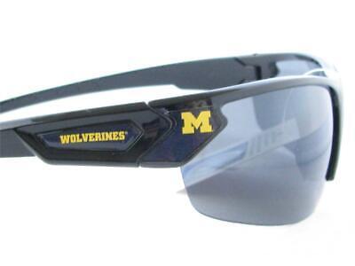 Michigan Wolverines Black Navy Blue Mens Sport Sunglasses IU Gift NCAA (Wolverine Sunglasses)