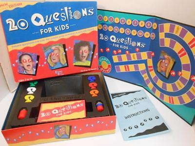 20 Questions Kids Board Game (Vintage 20 Questions For Kids Board Game 1989 Ages 7-12 100% Complete )