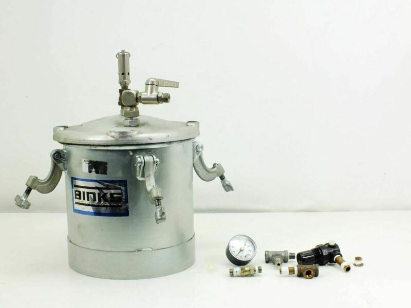 Binks 2.8 Gallon Spray Painting Pressure Tank Pot - with Accessories