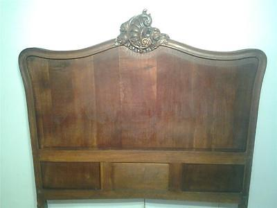 Ornate antique high carved oak headboard to fit 4'6  double bed