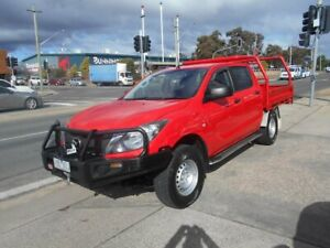 2015 Mazda BT-50 UP0YF1 XT Red 6 Speed Manual Cab Chassis