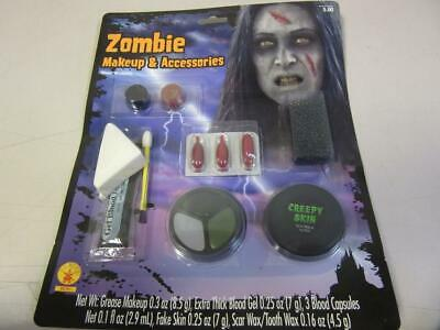 Zombie Makeup and Accessories Kit Halloween Costume Water Washable Blood Skin](Zombie Halloween Makeup Kits)
