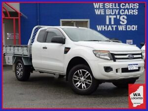 2013 Ford Ranger PX XL Hi-Rider Cool White 6 Speed Sports Automatic Cab Chassis
