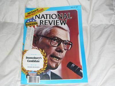 National Review Magazine   April 18 1980  John Anderson   Zimbabwe   Mayor Daley