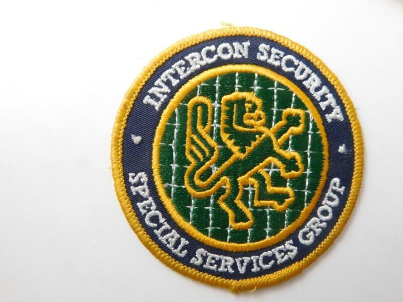 INTERCON SECURITY GUARD SPECIAL SERVICES VINTAGE PATCH BADGE UNIFORM POLICE