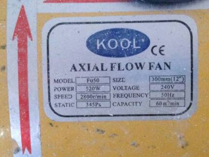 "Air Hog Kool Axial Exhaust Fan 300mm 12"" diameter"