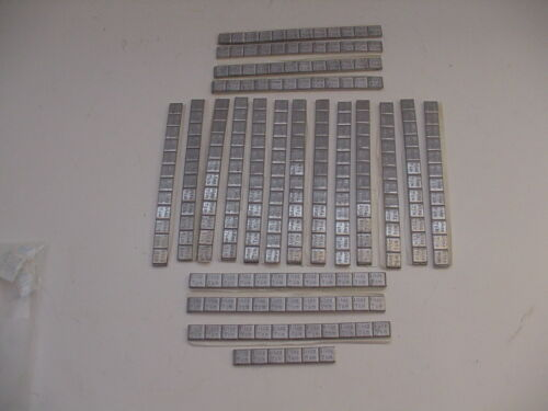 Large lot of 7Gram =1/4Oz Peel & Stick Slot Car Lead Weights Works on Scalextric