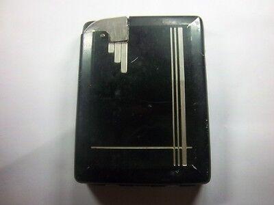 Here's a 1930's black Art Deco Cigarette Case Lighter