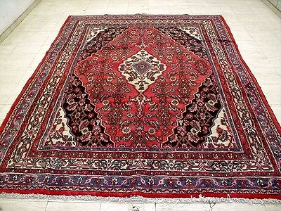 10X7 1940's GORGEOUS AUTHENTIC HAND KNOTTED ROOM SIZE WOOL HAMEDAN PERSIAN RUG