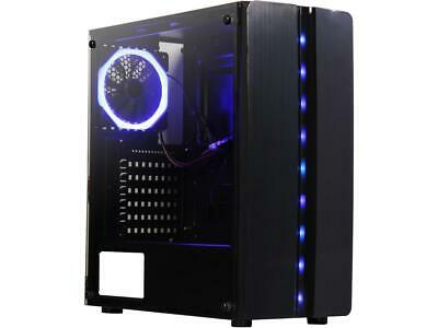 DIYPC Diamond-F1 Black USB3.0 Steel/ Tempered Glass ATX Mid