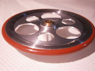 NEW IDLER WHEEL LENCO TURNTABLE L75 L78 MADE IN ITALY BY AUDIOSILENTE SHAFT 2.45