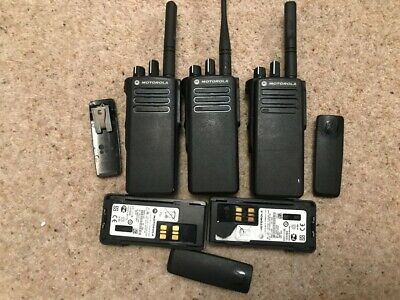 3 x Motorola Dp4400  Radios & 5 X Batteries plus more