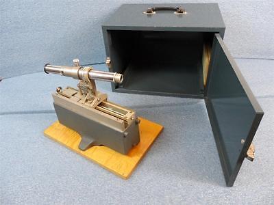 Central Scientific Gaertner Micrometer Slide Microscope W Metal Case
