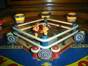 RARE 1950 GOTTLIEB KNOCKOUT WOODRAIL PINBALL MACHINE