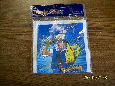 Pokemon Party Gift Bags (8 Bags) Designware American Greetings Co. New!!!](Pokemon Gift Bags)
