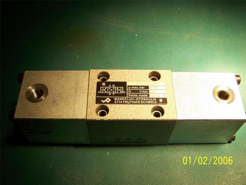 WANDFLUH HYDRAULIK Switching  Spool valve  CKII , WD L FA06-ACB